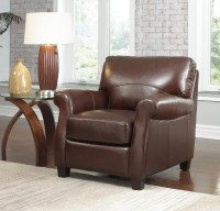 Carlisle Leather Chair In Coffee
