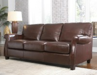 Carlisle Leather Sofa In Coffee
