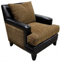 Glendora Leather/Fabric Chair