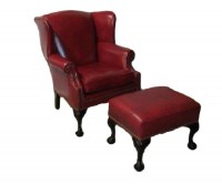 Tight Back Ball In Claw Wing Chair