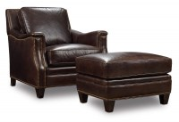 Bradshaw Leather Chair and Ottoman