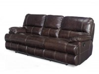 Espresso Leather Motion Sofa