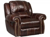 Saddle Brown Leather Glider/Recliner