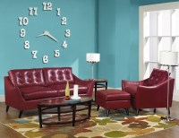 Courtney Leather Sofa Group