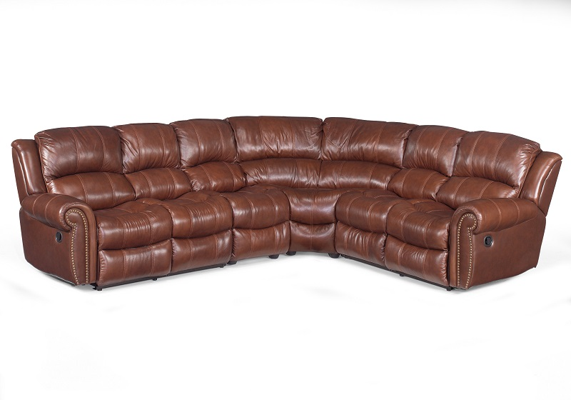 Hooker Leather Reclining Sectional