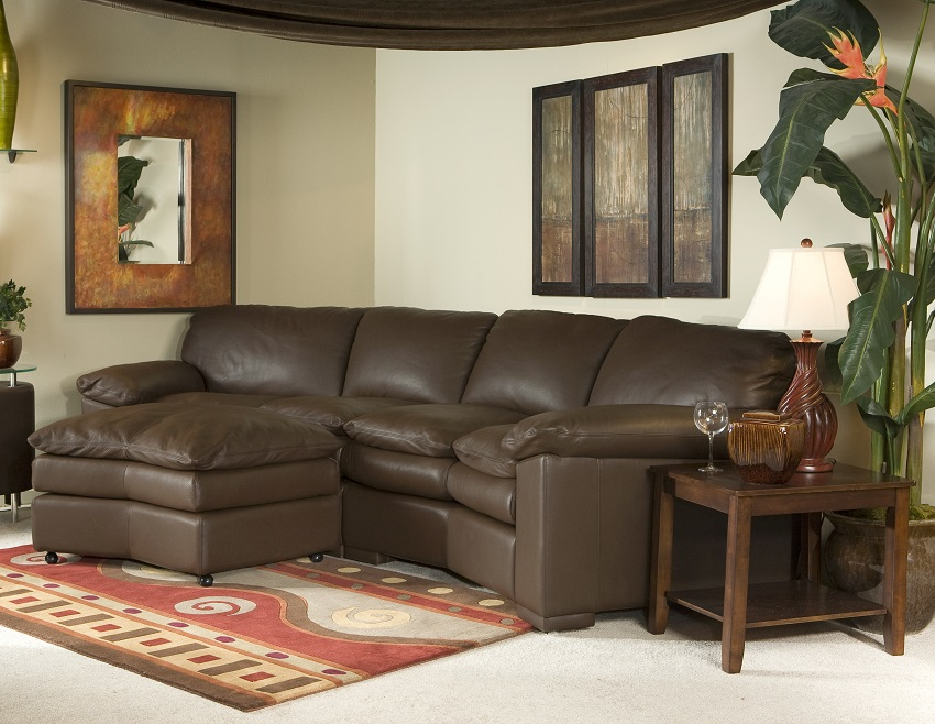Sutton Place Leather 4 Seat Conversation Sofa