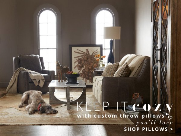 Cozy-Pillows-Right-Banner-A Wellington's Fine Leather Furniture | High End Leather Furniture