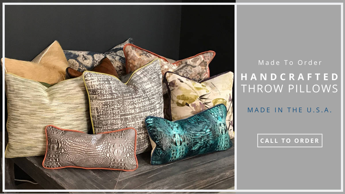 Handcrafted-Throw-Pillows-A-1 Wellington's Fine Leather Furniture