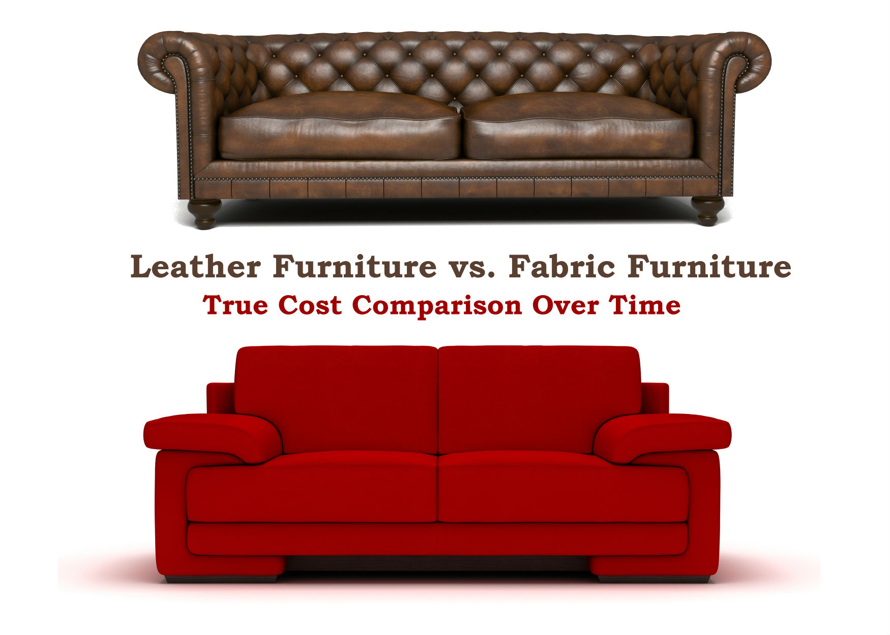 Leather Furniture Vs Fabric True Cost