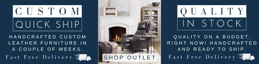 Outlet-Banner-Catalog-A Gambill Leather Loveseat - Quality Leather Furniture