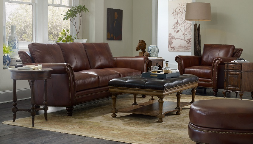 Superbe Bradington Young Leather Sofa