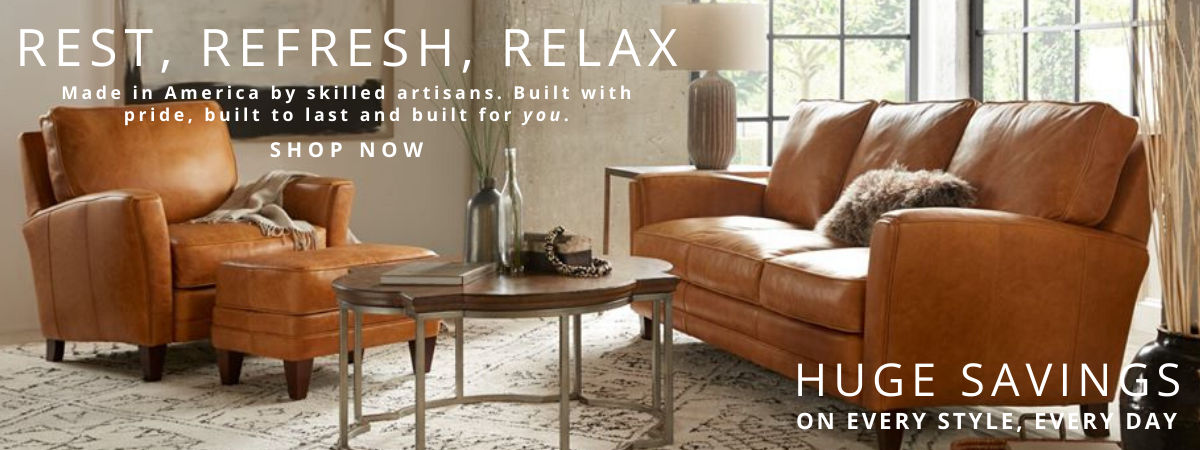 Everyday Savings on Leather Furniture