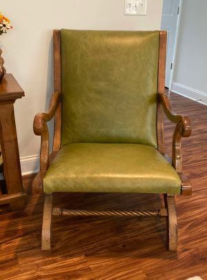 Adirondack Leather Accent Chair
