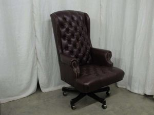 American Leather Tufted Office Chair