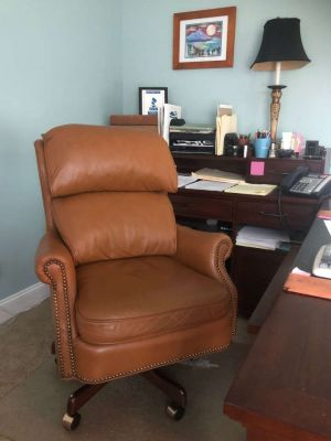 Anthony Leather Swivel Tilt Chair