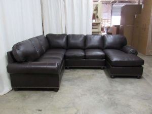 Senneca Leather Sectional