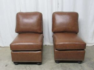 Armless Chair - Senneca Leather Sectional