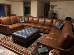 Custom Leather Sectional
