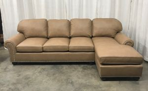Stratton Leather Sofa With Chaise