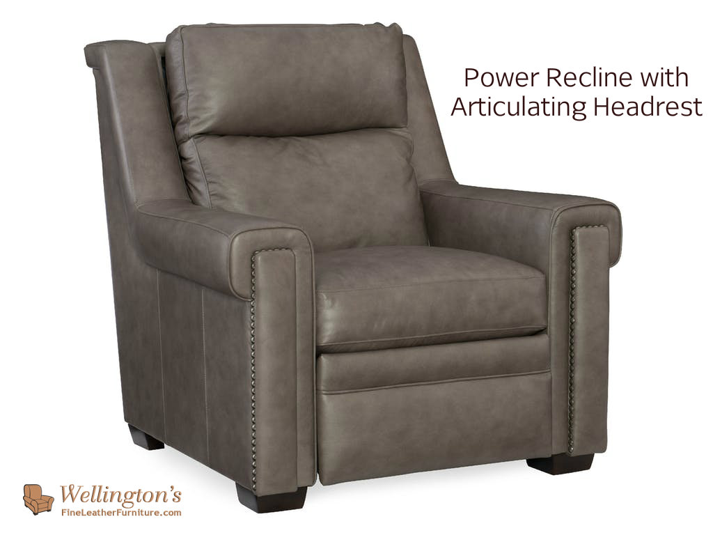 Leather Recliner With Articulating Headrest