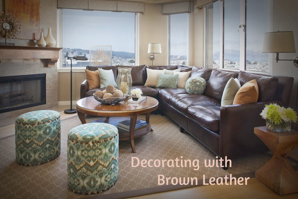 Decorating With Brown Leather Furniture How To Bring Out The Beauty In