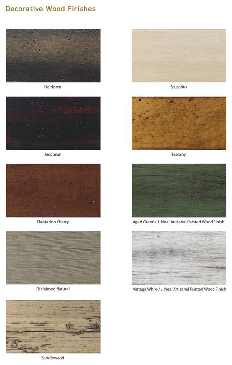 Mckinley Nail Wood Finish Options
