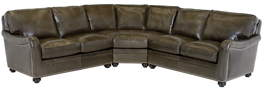 Omnia Leather Sectionals