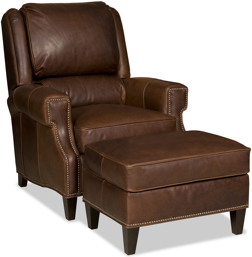 Comfortable Tilt Back Chair And Ottoman