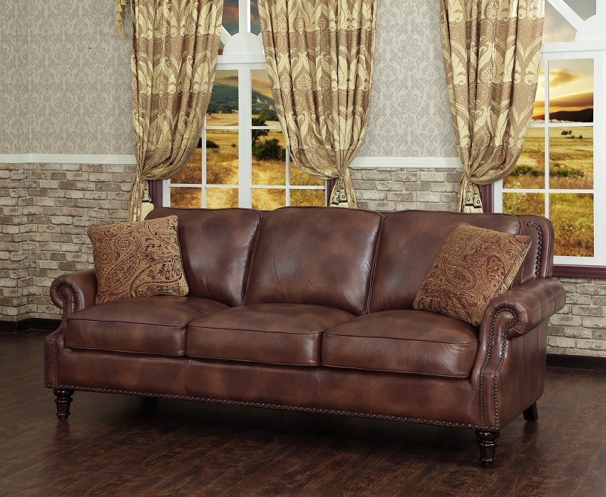 In stock leather furniture bremerton leather sofa for Furniture bremerton