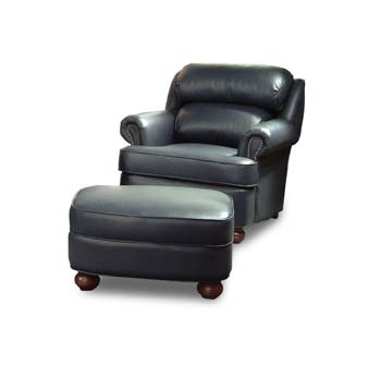 Cushion Back Pub Leather Chair
