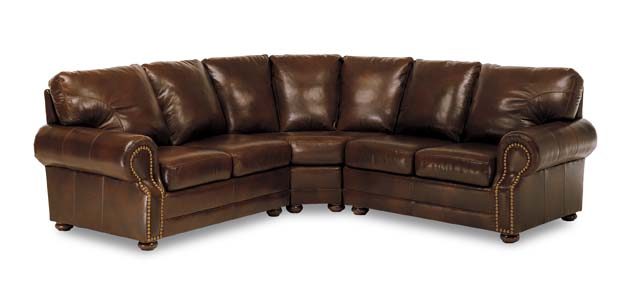 Chelshire Leather Sectional