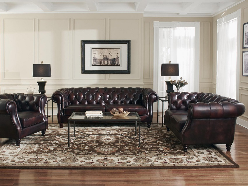 Beaufort Leather Sofa
