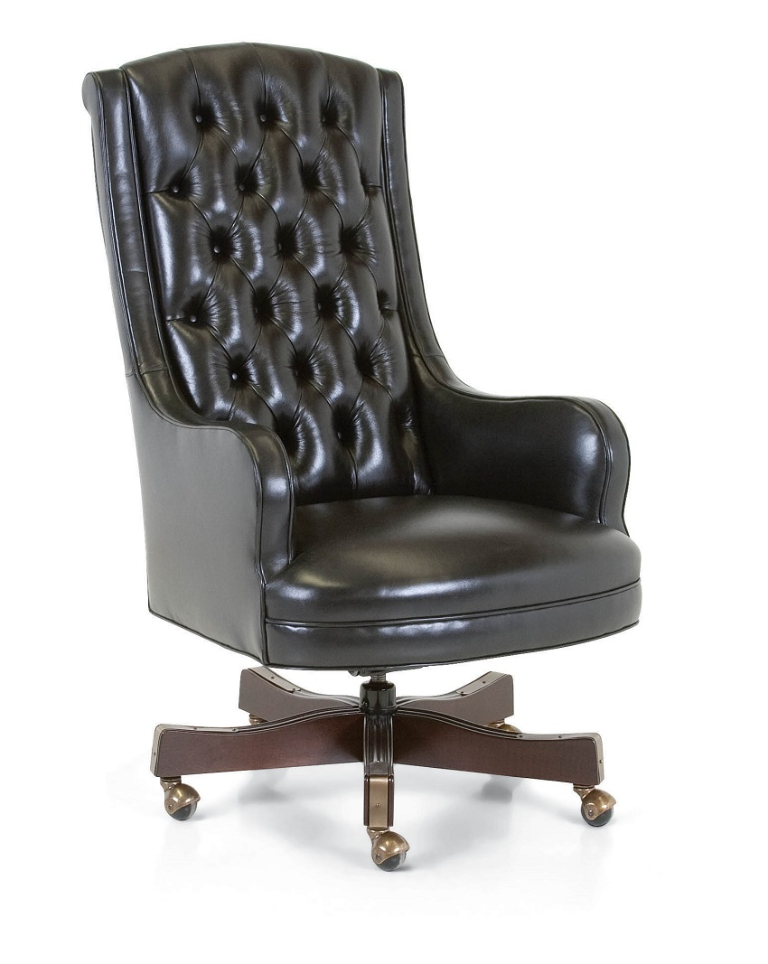 Montclaire Leather Desk Chair (Swivel Tilt)