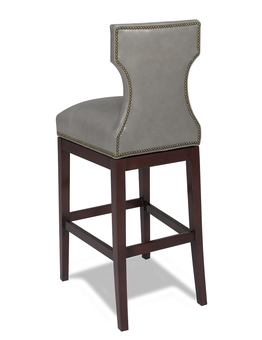 Leather Bar Stools Karma Swivel Leather Bar Stool