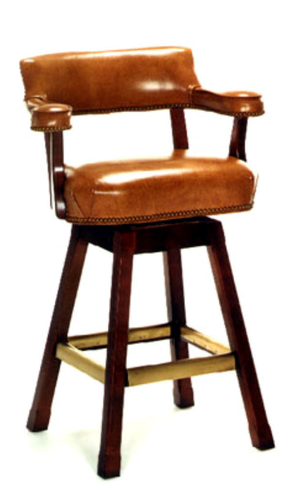 Leather Bar Stools Cheers Leather Swivel Bar Stool