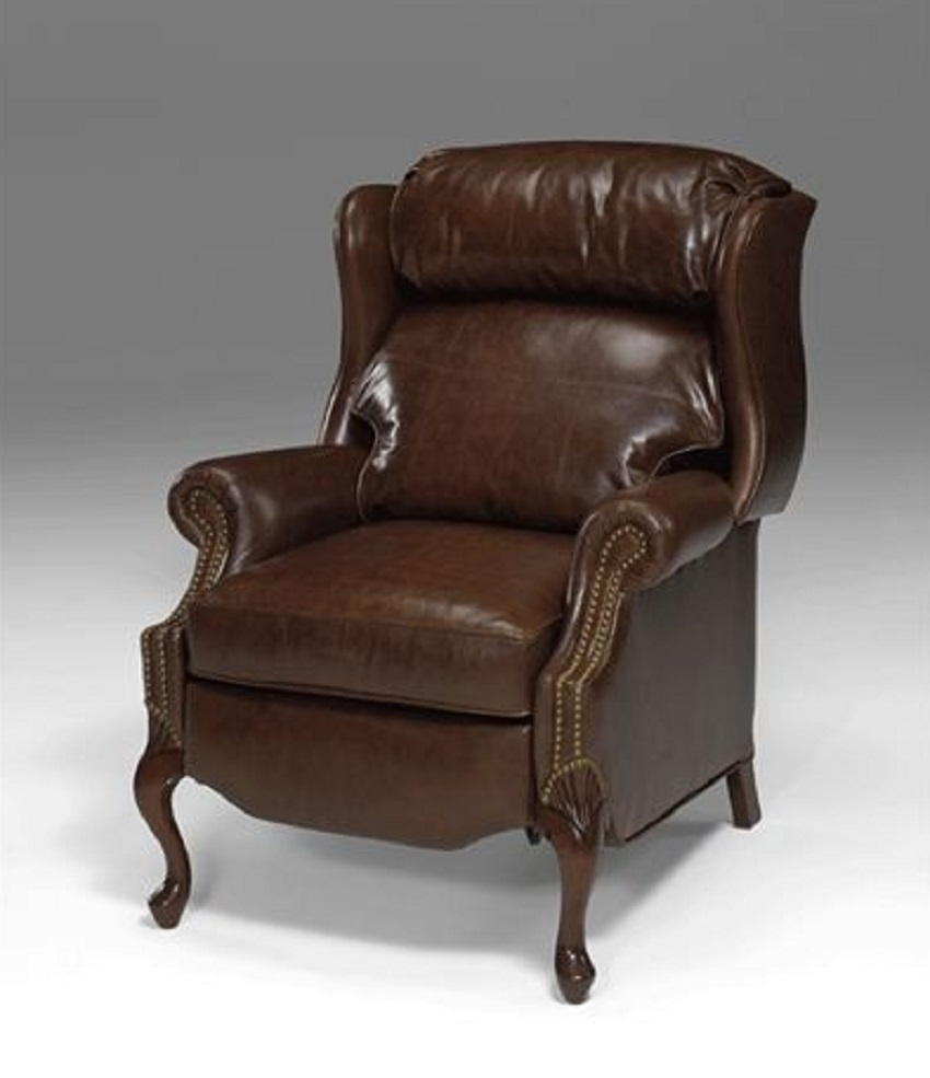 Queen Anne Leather Recliner