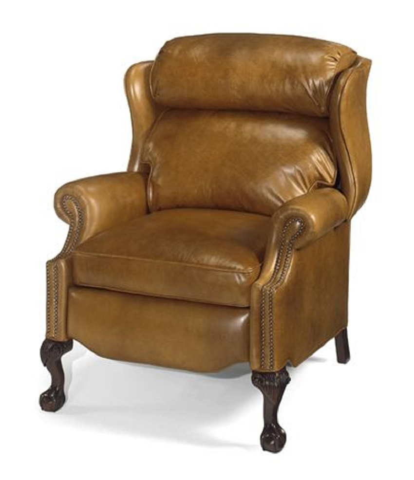 Leather Recliners Oversize Ball In Claw Wing Chair