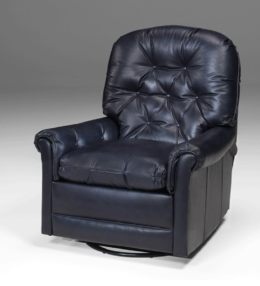 Tilden Leather Swivel Rocker Recliner