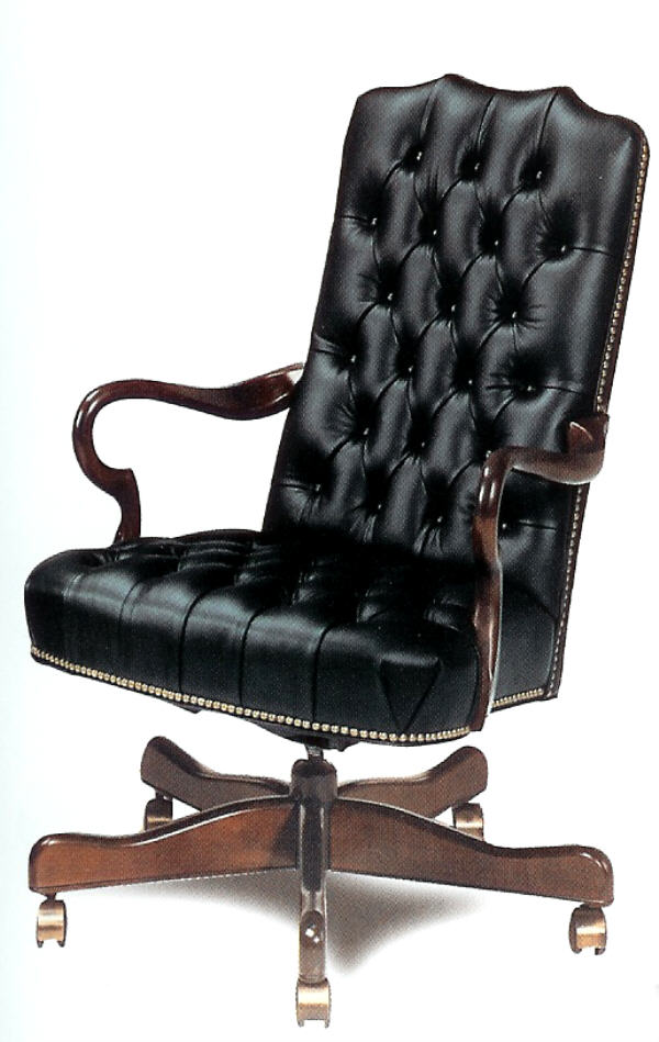 Leather office furniture sycamore leather desk chair for Home office chairs leather