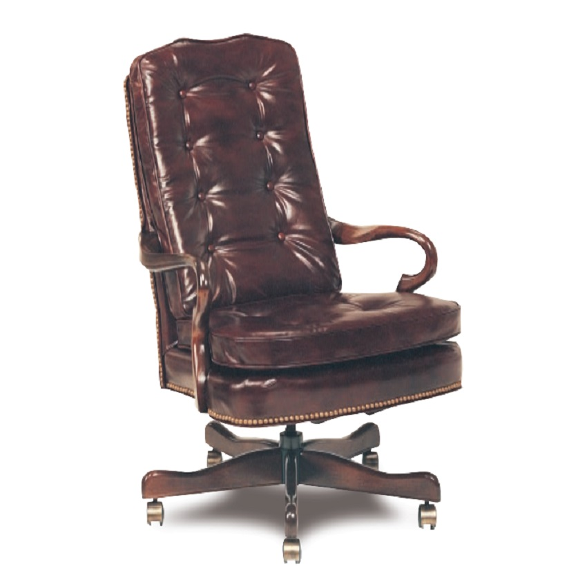 Leather Office Furniture Semi Attached Leather Gooseneck