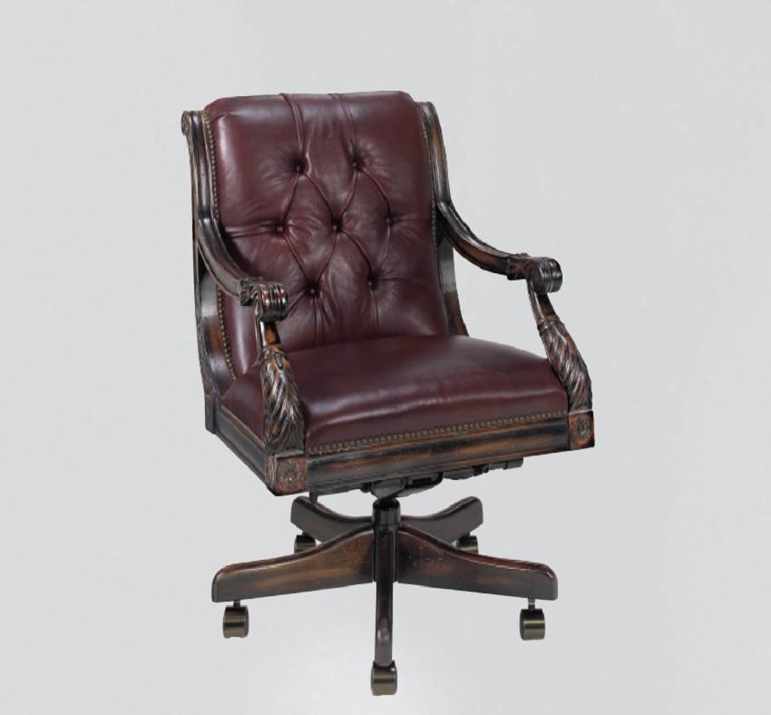 Nob Hill Leather Swivel Tilt Chair