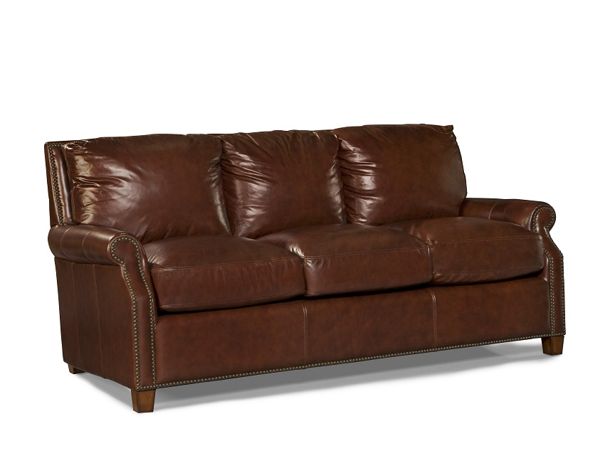 Kingston Leather Sofa In Auburn