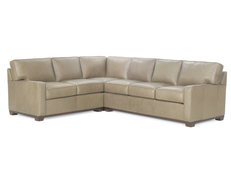 High Quality Leather Sectional American Made Wellington S