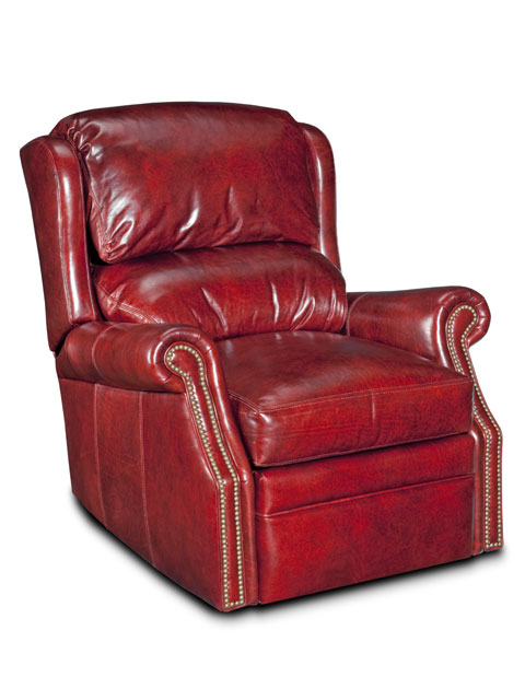 Bancroft Leather Swivel Glider Recliner