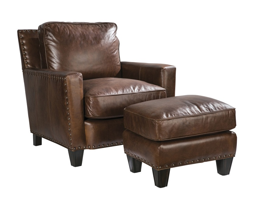Alvarado Leather Chair & Ottoman