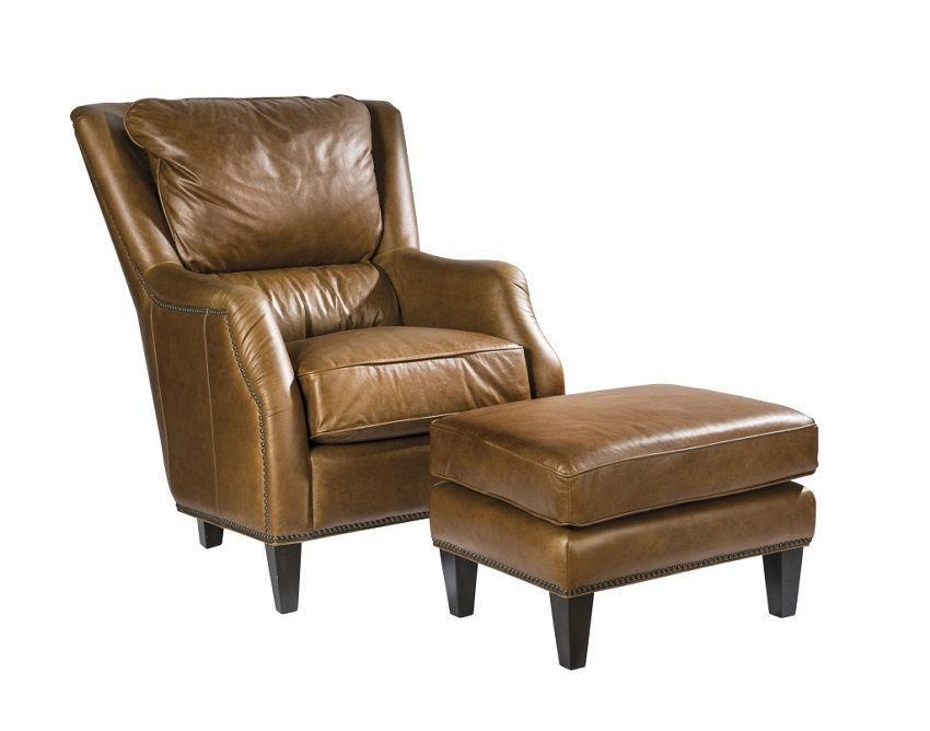 In Stock Leather Furniture Scottsdale Leather Chair Ottoman