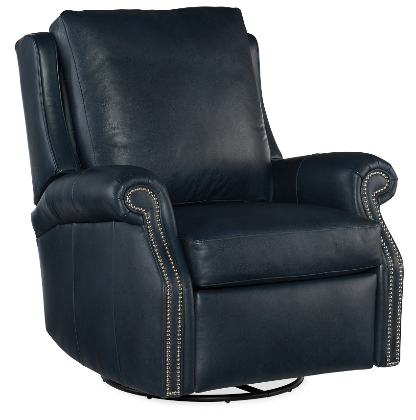 barcelo leather swivel glider recliner by bradington young