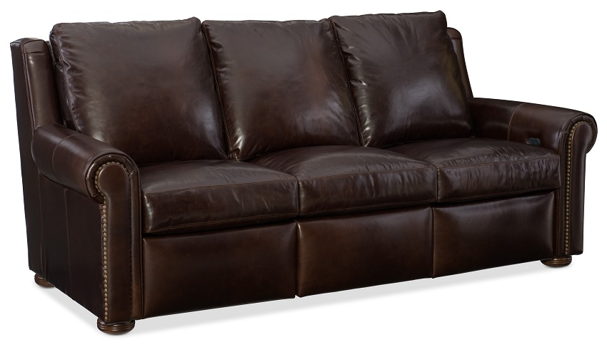 Perry Leather Reclining Sofa