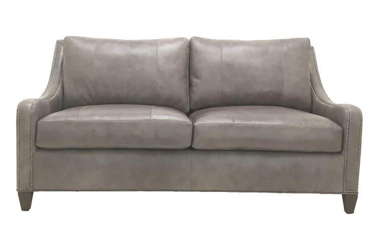 Grey Leather Queen Sofa Sleeper