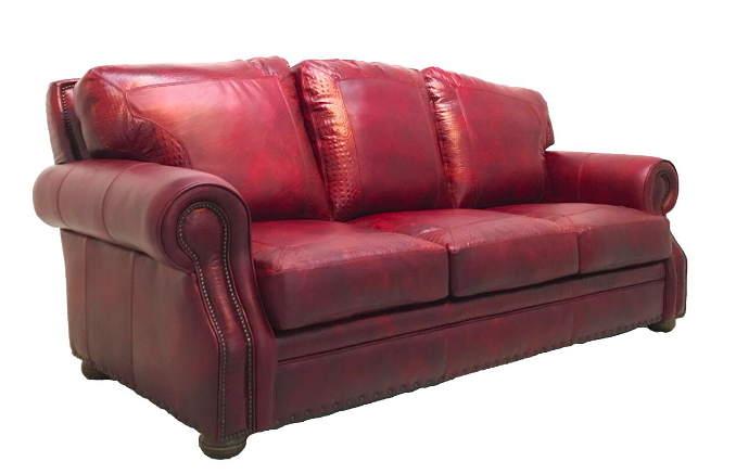 Croc Leather Sofa
